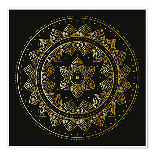 Premium poster Mandala on black