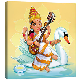 Canvas print  Saraswati with a swan - Kidz Collection