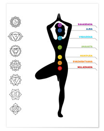 Premium poster  The 7 chakras