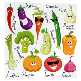 Acrylic print  Funny vegetables - Kidz Collection