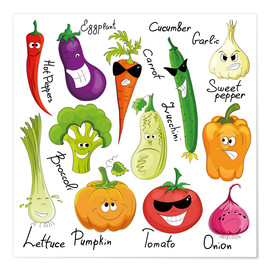 Premium poster Funny vegetables