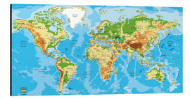 Alu-Dibond  map of the world