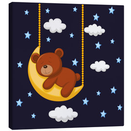 Canvas  Goodnight Teddy - Kidz Collection