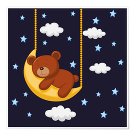 Premium poster  Goodnight Teddy - Kidz Collection