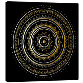 Canvas print  Mandala on black