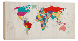 Wood print  World Map, 2003 - Kidz Collection