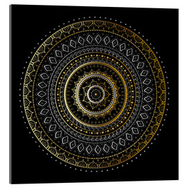 Acrylic glass  Mandala Gold/Silver