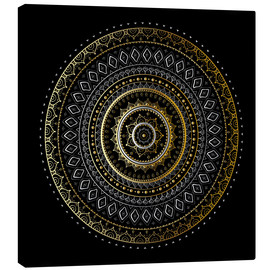 Canvas print  Mandala gold/silver