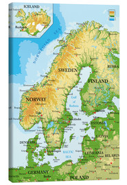 Canvas  Scandinavia - Map