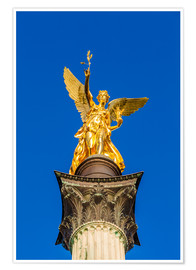 Poster  Angel of peace in Munich - Dieterich Fotografie