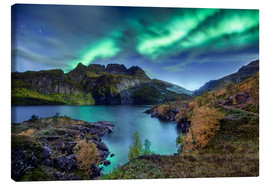 Canvas print  Northern Lights, Norway - Christian Möhrle