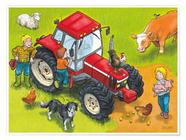 Premium poster Red Tractor