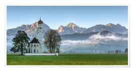 Premium poster Church St. Coloman in Allgaeu autumn