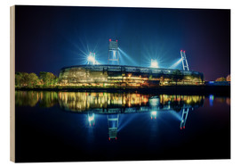 Wood print  Bremen Stadium - Tanja Arnold Photography
