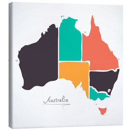 Ingo Menhard - Australia map modern abstract with round shapes