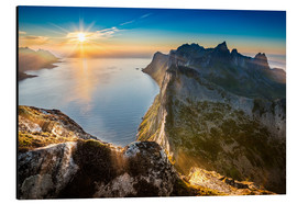 Aluminium print  View from Beautiful Segla Mountain, Senja, Norway - Markus Ulrich