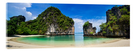 Acrylic print  thailand hong Iceland beach Panorama - Vincent Xeridat