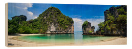 Wood print  thailand hong Iceland beach Panorama - Vincent Xeridat