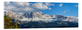 Acrylic glass  Rosengarten group, Dolomites, South Tyrol, Italy - Gerhard Wild