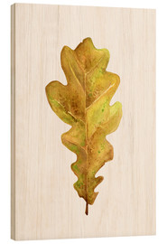 Wood print  Oak Leaf - RNDMS