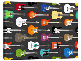 Canvas print  Guitar pattern - Kidz Collection