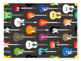 Premium poster  Guitar Pattern - Kidz Collection