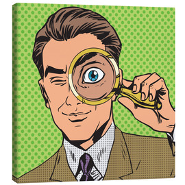 Canvas  Detective with magnifying glass