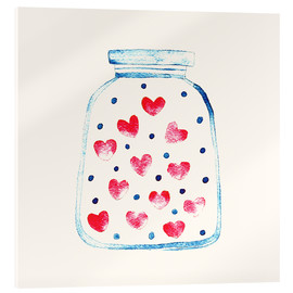 Acrylic print  Love in a glass - Kidz Collection