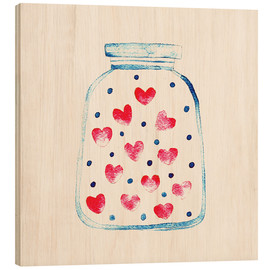 Wood print  Love in a glass - Kidz Collection
