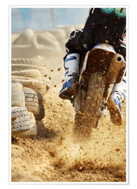 Premium poster  Motocross bike racing