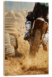 Wood  Motocross bike racing