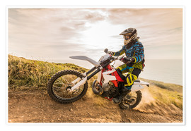 Premium poster  Enduro rider on the coast
