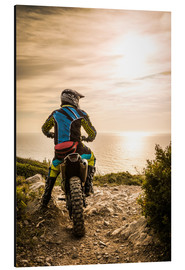 Alu-Dibond  Enduro racer on the coast
