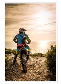 Premium poster  Enduro racer on the coast