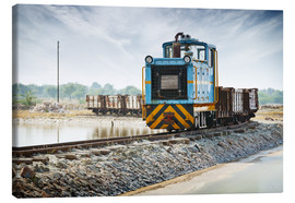 Canvas print  Old freight train, India