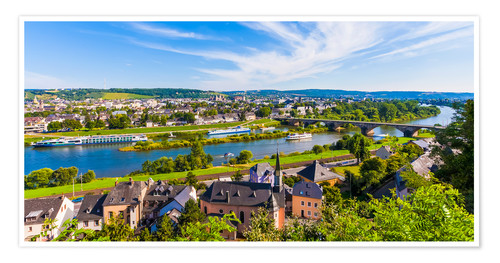 Premium poster Ships on the Moselle River in Trier