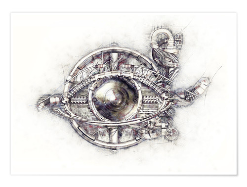 Premium poster Sketch technical eye