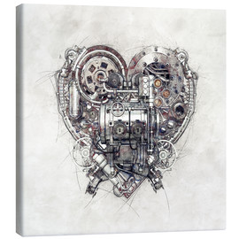Canvas print  Heart Sketch - diuno
