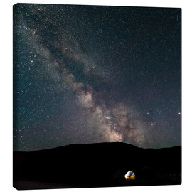 Canvas print  Camping underneath milky way - Denis Feiner