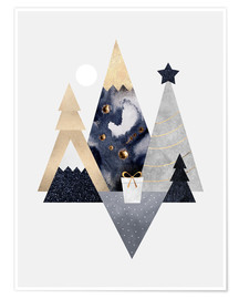 Poster  Christmas Mountains - Elisabeth Fredriksson