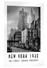 Acrylic print  Historic New York: Manhattan, 48th street, looking northwest - Christian Müringer