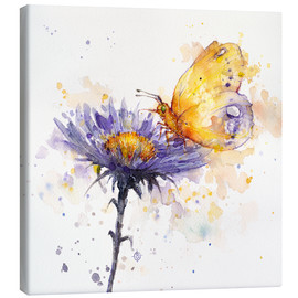 Canvas print  Flowers & flutters (butterfly & flower) - Sillier Than Sally