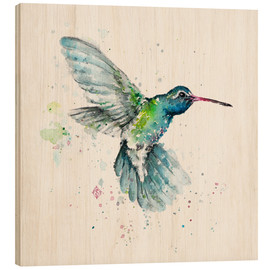 Wood print  Hummingbird flurry - Sillier Than Sally