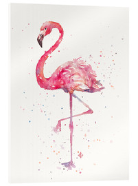 Acrylic glass  A Flamingos Fancy - Sillier Than Sally