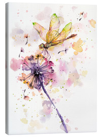 Canvas print  Dragonfly & dandelion - Sillier Than Sally
