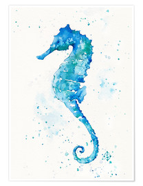 Premium poster  Sailing Along (Seahorse) - Sillier Than Sally
