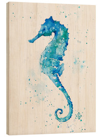 Wood print  Sailing Along (Seahorse) - Sillier Than Sally