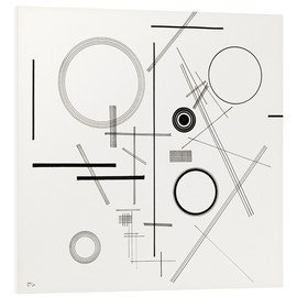 Foam board print  Concentric Circles - Wassily Kandinsky