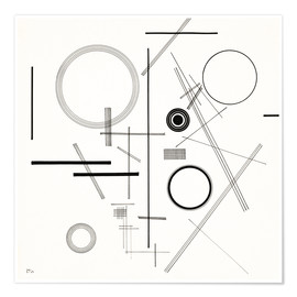 Premium poster  Concentric Circles - Wassily Kandinsky