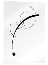 Acrylic print  Free curve to the point - Wassily Kandinsky